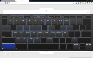 Screenshot of Keyboard Shortcuts for Google Notebook