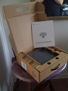 Picture of the Google Chrome OS Notebook Box Opened